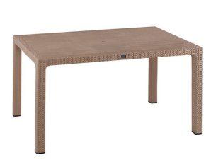 Τραπέζι 150Χ90Χ73.5Υεκ. Rattan Cappuccino HM5737.02