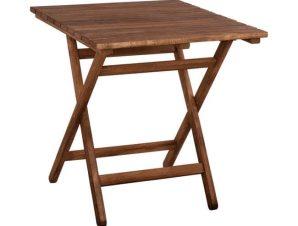 Τραπέζι Σκηνοθέτη Λήμνος 70Χ70X75Υ εκ. Wallnut HM5648.01