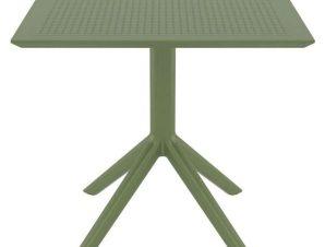 Τραπέζι Sky 20.0248 80X80X74cm Olive Green Siesta