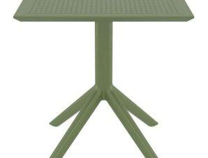Τραπέζι Sky 20.0253 70X70X74cm Olive Green Siesta