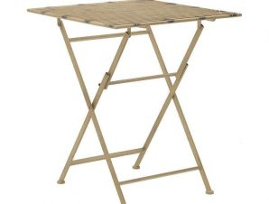 Τραπέζι Πτυσσόμενο 3-50-207-0100 60Χ60Χ70cm Gold Inart