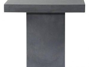 Τραπέζι Concrete Cubic Cement Grey Ε6208 80x80x75cm