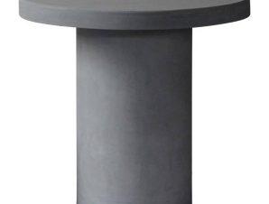Τραπέζι Concrete Cylinder Cement Grey Ε6207 D.80 H.75cm