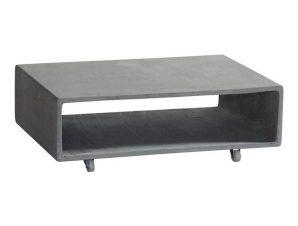 Τραπέζι Σαλονιού Concrete Cement Grey Ε6210 75x50x20cm
