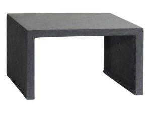 Τραπέζι Σαλονιού Concrete Cement Grey Ε6211 80x80x47cm