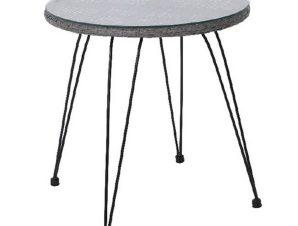 Τραπέζι Salsa Black/Grey Ε244,Τ1 D.52x53cm