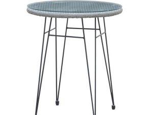 Τραπέζι Salsa Black/Grey Ε244,ΤΗ1 D.60x70cm